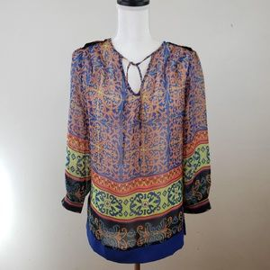 NWT! Anthro, Nick & Mo Colorful Boho Blouse